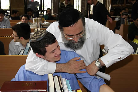 Rav Blachman with a Talmid