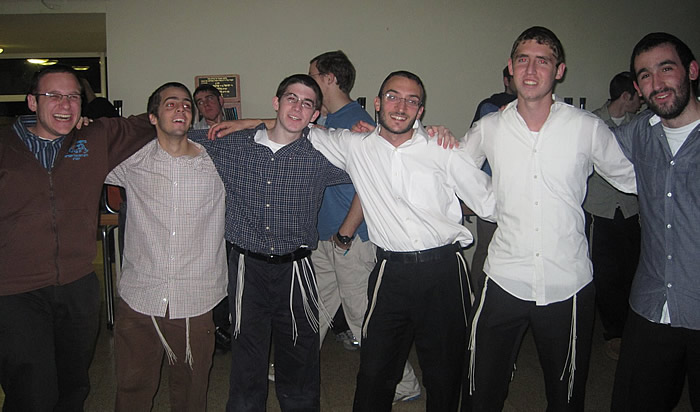Chevre Dancing at Chanuka Chagiga